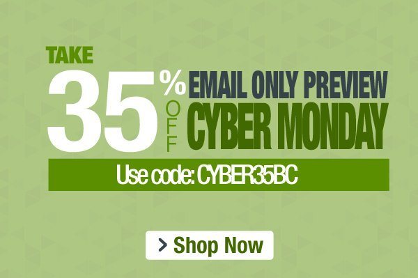 35% Off Cyber Monday Preview Sale