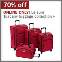 70% off Leisure Tuscany luggage collection.