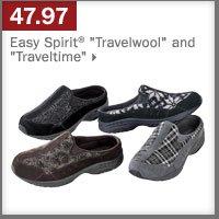 "47.97 Easy Spirit® ""Travelwool"" and ""Traveltime""."