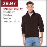 29.97 Nautica® Nautex fleece quarter zip.