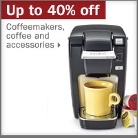 Up to 40% off coffeemakers, coffe and accessories.