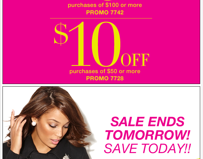 Now through Monday Save $20 in stores & online!