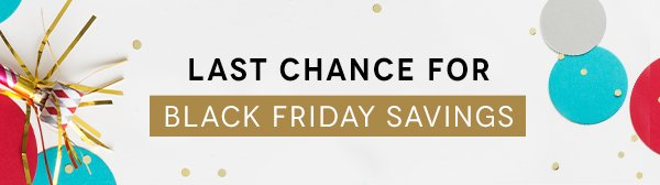 Last Chance for Black Friday Savings