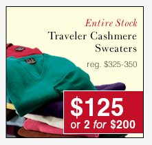 Traveler Cashmere Sweaters - $125 USD or 2 for $200 USD