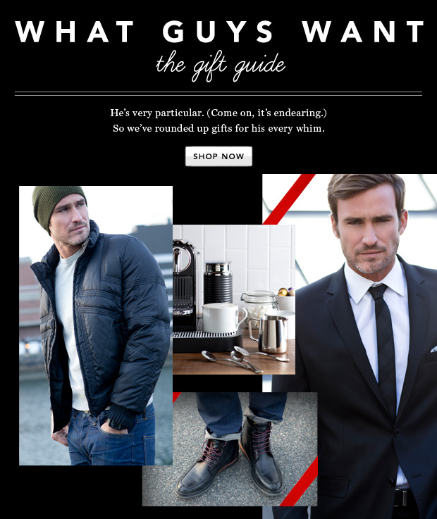 What Guys Want: The Gift Guide