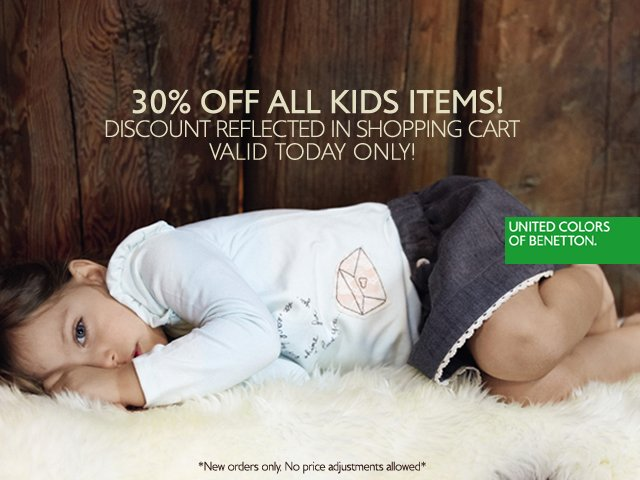 Save 30% on KIDS styles for your family. Today only!