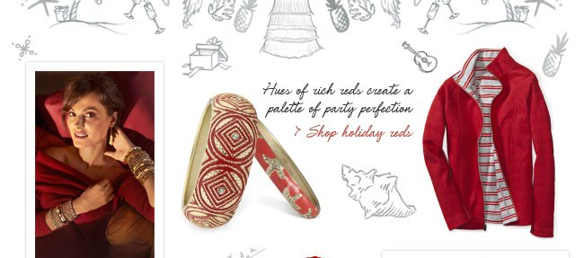Shop holiday reds