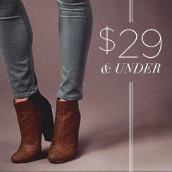 29$ & under Shoes