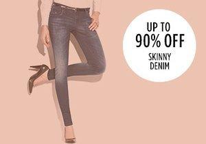 Up to 90% Off: Skinny Denim
