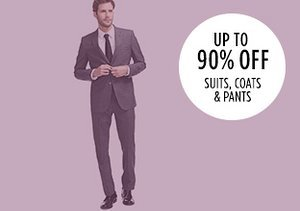 Up to 90% Off: Suits, Coats & Pants