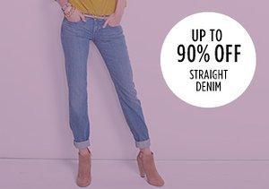 Up to 90% Off: Straight Denim