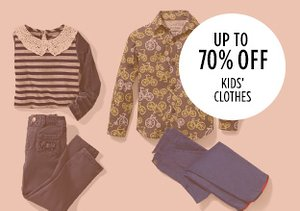Up to 70% Off: Kids' Clothes