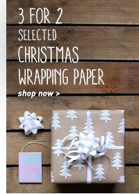 3 for 2 wrapping paper