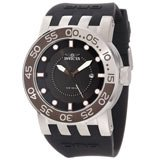 Invicta 12422 Men's DNA Diver Black Dial Black Rubber Strap Stainless Steel Watch