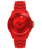 Ice-Watch LORDUS10 Unisex Ice-Love Red Polycarbonate Silicone Rubber Strap Watch