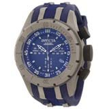 Invicta 10013 Men's Coalition Forces Blue Dial Blue Rubber Strap Chronograph Watch