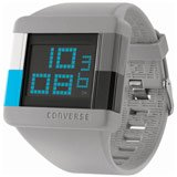 Converse VR014-080 Men's High Score Grey Silicone Strap Black Digital Dial Chronograph Watch