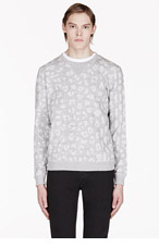 MARC BY MARC JACOBS Grey Leopard Sweater for men
