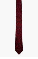 ALEXANDER MCQUEEN Red reptile tie for men