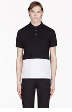 MARC BY MARC JACOBS Black & White Colorblocked POLO for men