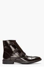 TIGER OF SWEDEN Deep brown monk strap CLIVE 04 boots for men