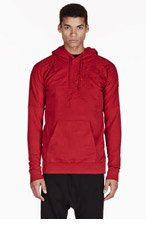 BALMAIN Red MANG DRAGON Embroidered HOODIE for men