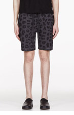 MARC BY MARC JACOBS Grey Leopard Lounge Shorts for men