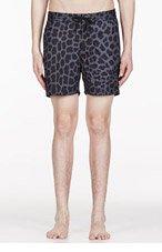 MARC BY MARC JACOBS Blue Leopard Swim Shorts for men