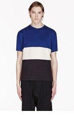 MARC BY MARC JACOBS Blue & black colorblocked t-shirt for men