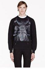 DIESEL BLACK GOLD SPIA-BIGBUG Black Scarab Print Sweater for men