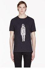 RAG & BONE Black Astronaut T-shirt for men