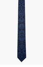 ALEXANDER MCQUEEN Blue reptile tie for men