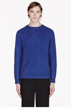 MARC BY MARC JACOBS Blue & Red Colorblocked Sweater for men