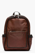 MARC BY MARC JACOBS Mahogany red pebbled leather OUT OF BOUNDS BACKPACK for men