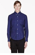 BAND OF OUTSIDERS Blue Classic Shirt for men