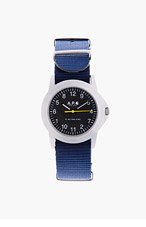 A.P.C. Silver & blue Carhartt edition watch for men