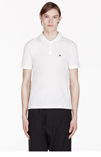 BAND OF OUTSIDERS White Atari Haunted House Edition Printed Polo for men