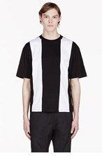 DIESEL MAYNO Black & White Stripe T-shirt for men