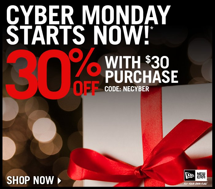 Cyber Monday Starts Now! 30% Off with a $30 Purchase. Use code: NECYBER