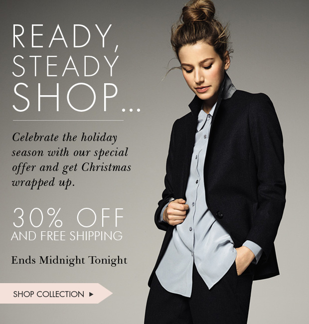 Download Images: Ready, steady SHOP:  30% off winter collection and free shipping