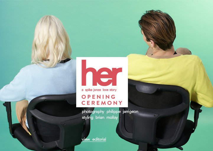 her by Opening Ceremony - a collection inspired by a spike jonze love story