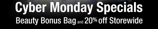 Cyber Monday Specials | Beauty Bonus Bag plus up to 25% off