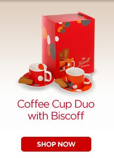 Coffee Cup Duo with Biscoff
