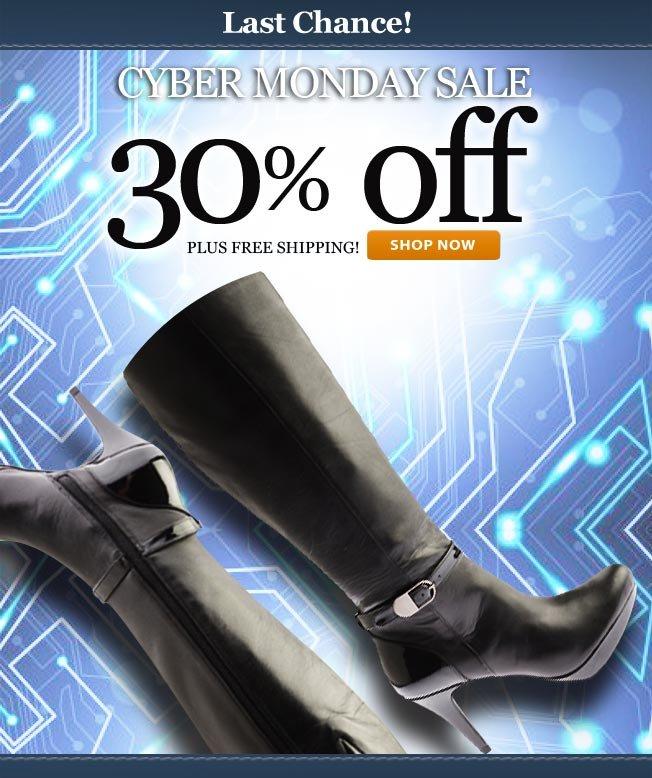 30% off! Cyber Monday Savings!