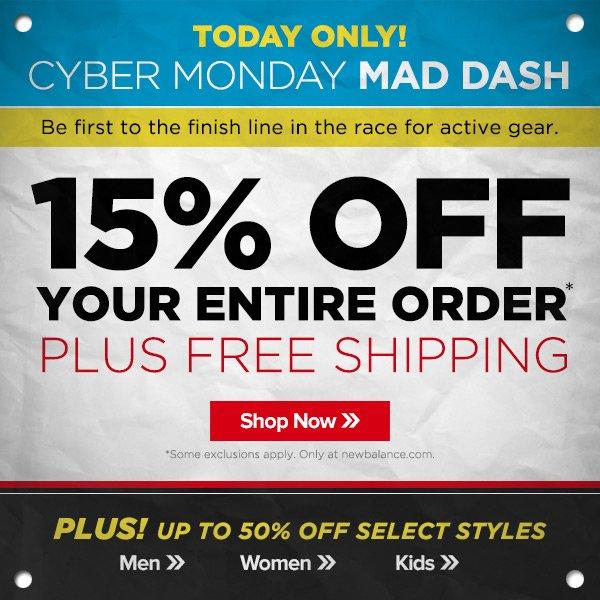 Cyber Monday Mad Dash Savings