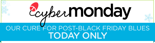 cyber monday | OUR CURE FOR POST-BLACK FRIDAY BLUES - TODAY ONLY