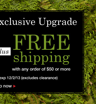 Cyber Monday! Extra 50% Off highest priced item plus Free Shipping! Use promo code WW97348. Expires 12/02/13
