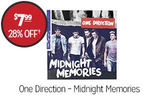 One Direction - Midnight Memories - $7.99 - 28% off‡
