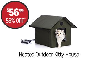 Heated Outdoor Pet House - $56.99 - 55% off‡