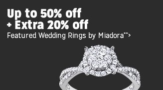 Up to 50% off + Extra 20% off Featured Wedding Rings by Miadora**